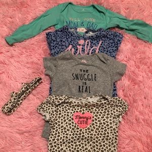 Toddler Girls Onesies Size 18 Months